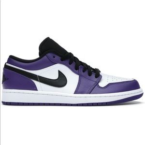 "*NEW* Air Jordan 1 Low ""Court Purple White""(Sz 13)"
